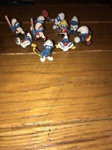 Lot of 17 Smurfs figures Vintage Galoob Schleich Applause ERTL PEYO 70's 80's