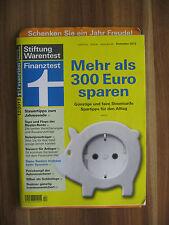 Stiftung Warentest Finanztest 12/2013 - Günstige und faire Stromtarife