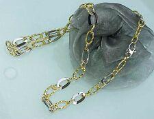 45 cm HALSKETTE COLLIER 750 GOLD  bicolor  KETTE  18 KT   NEU   Edel und Elegant