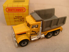 1981 MATCHBOX LESNEY SUPERFAST #30 PETERBILT DUMP QUARRY TRUCK DIRTY DUMPER MIB