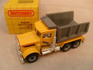 1981 MATCHBOX LESNEY SUPERFAST #30 PETERBILT DUMP QUARRY TRUCK DIRTY DUMPER MIB