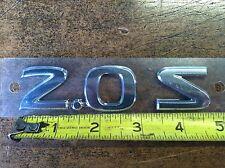 """2009-2010 NISSAN SENTRA REAR TRUNK EMBLEM """"2.0 S"""""""