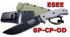 ESEE Model 6 Clip Point w/ OD Green Sheath 6P-CP-OD NEW