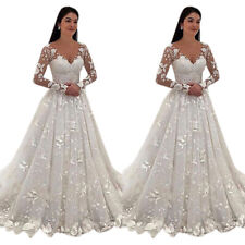 Womens Wedding Party Long Lace Maxi Dress Formal Cocktail Prom Ball Gown Dresses