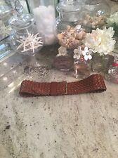 Linea Pelle Brown Leather Woven Belt Size M