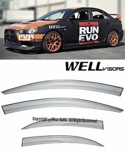 For 08-15 Mitsubishi Lancer WellVisors Side Window Visors Rain Guard