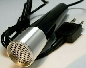vintage microphone with 3.5mm and 2.5mm plugs