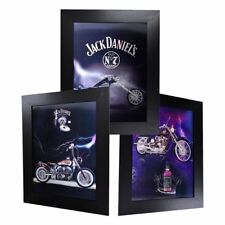 3 Dimension 3D Lenticular Picture Jack Daniel's Old No 7 Club Motorbikes Bikes
