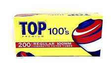 Top 100M Size Cigarette Filter Tubes Full Flavor Red box 200 Filter Tube New USA