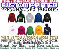 Mens Unisex Hoodie Printing Custom Design Your Own Hoodies Personalised Jumper