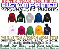 Mens Unisex Hoodie Printing Custom Design Your Own Hoodies Personalised Jumper