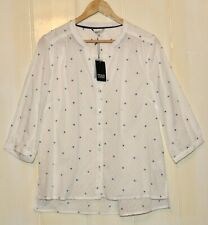 DICKINS & JONES 100% COTTON 'PENNY POLKA DOT' BLOUSE IN SIZE 14 - NEW WITH TAGS