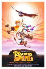 RESCUERS DOWN UNDER • 1-Sheet Movie Poster DS • DISNEY • 1990