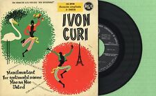 IVON CURI / Menilmontant, Ma na Mao, Usted / RCA 3-24028 Pres Spain 1957 EP VG+