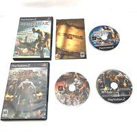 God of War & God of War II Lot Playstation 2 PS2 - Tested - Black Label!