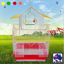 30x23x48cm Bird Cage Parrot Pet Carrier Portable Metal Feeder Perch PKEN269