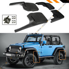 Jeep Wrangler Mud Flaps 2007-18 JK JKU Guards Splash Flares 4 Piece Front & Rear