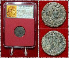 New ListingAncient Roman Coin Valentinian I Emperor Dragging Bound Captive Dramatic Scene