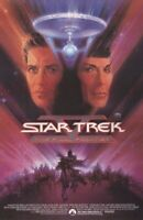STAR TREK V ~ FINAL FRONTIER BOB PEAK 22x34 MOVIE POSTER William Shatner Nimoy 5