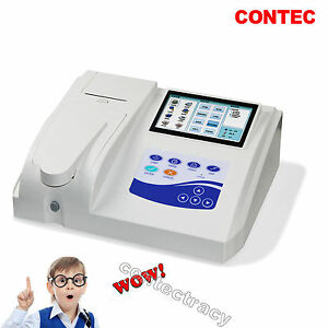 "7"" LCD Touch Semi-automatic Blood Biochemistry Analyzer,free Printer CONTEC CE"
