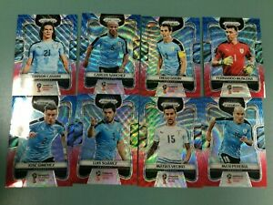 2018 PANINI PRIZM FIFA WORLD CUP SOCCER CARD RED&BLUE WAVE TEAM SET URUGUAY (8)