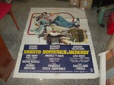 SABATO DOMENICA E VENERDI' manifesto 2F originale 1979 FENECH BOUCHET CELENTANO