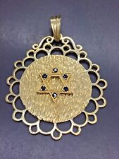18ct Yellow Solid Gold Star Of David Pendant