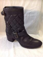 Clarks Black Mid Calf Leather Boots Size 6.5D