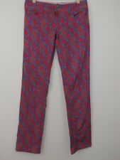 Lilly Pulitzer Women SZ 8 Worth Straight Jeans Hold Your Horses Seahorse Pink