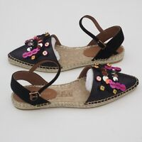 BNIB EMPORIO ARMANI Ladies Embellished Espadrille Sandals size UK 3  RRP £270
