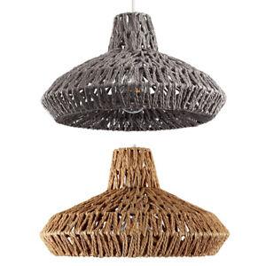 MiniSun Rattan Wicker Design Ceiling Shade Pendant Lighting Brown / Grey Finish