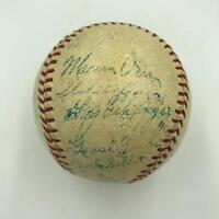1937 Detroit Tigers Team Signed AL Game Baseball Hank Greenberg Goose Goslin