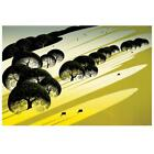 """Eyvind Earle """"Cattle Country"""" Hand-Signed Limited Edition Serigraph COA"""