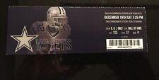 Dallas Cowboys Vs NY Jets Ticket Stub 12-19-2015 AT&T Stadium