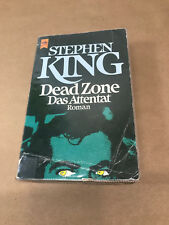 Stephen King Dead Zone  Das Attentat German Language Vintage Paperback 1979