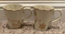 Cracker Barrel SEASON OF GLORY Peace & Joy Mugs