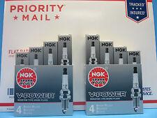 8X NEW Genuine NGK 2756 Spark Plugs OEM# BKR6E-11 V-Power Upgrade Made in Japan