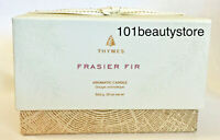 THYMES Frasier Fir Glided Ceramic Poured Candle 3 wick 20oz *NEW*