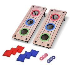 GoSports 2-in-1 Bean Bag Toss & Washer Toss Outdoor Game - For Kids & Adults