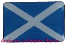 3 D Aufkleber 20x30mm Schottland Gross Britanien Europa Fahne wetterfest Insel