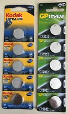 Gp, Kodak 1620 2025 2032 2450 LR54 And Other Batteries 1,5 -3V New Blister Pack