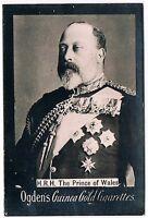 Vintage Ogden's Guinea Gold Cigarettes H.R.H. The Prince Of Wales Tobacco Card