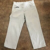 Jag Jeans Size 12 Gray Peri Classic Fit Pull On Cropped Pants