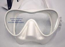 SOPRAS SUB OCCHIO DIVE MASK WHITE, Frameless, Silicone Scuba Diving, Freediving