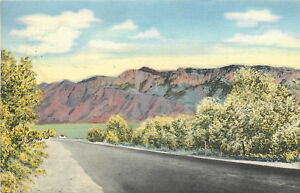Linen Postcard B819 Highway 85 Sandia Mountains Bernalillo Albuquerque NM 1946