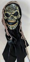 Vintage Easter Unlimited Funworld Grim Reaper Skull Skeleton Hood Halloween Mask
