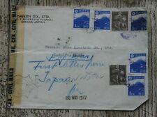Japan 1947 censored letter ,readdressed