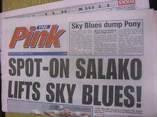 30/12/1995 COVENTRY evening Telegraph il rosa: principali titolo recita: Spot-On SAL