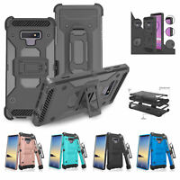 For Samsung Galaxy Note 9 Case, Rugged Swivel Belt Clip Holster Kickstand Cover