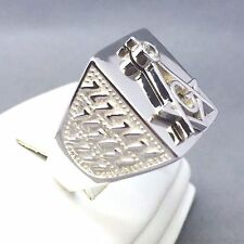 "AWESOME 925 SOLID STERLING SILVER MEN'S ""MASONIC"" DRESS RING SIZE ""T½""   1155"